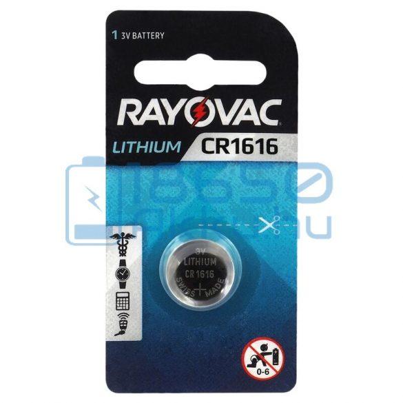 Rayovac CR1616 Lítium Gombelem
