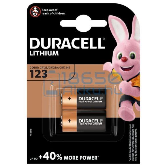 Duracell CR123 Lítium Elem (2db)