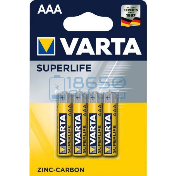 Varta Superlife Cink-Szén Féltartós (AAA / R03) Mikro Elem (4db)