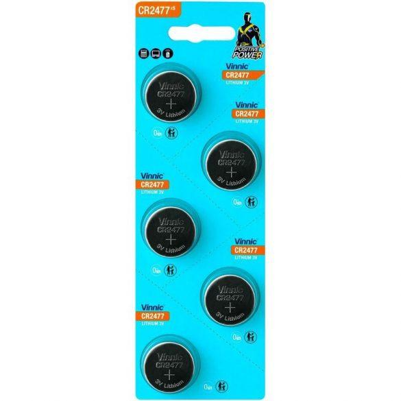 Vinnic CR2477 Lítium Gombelem
