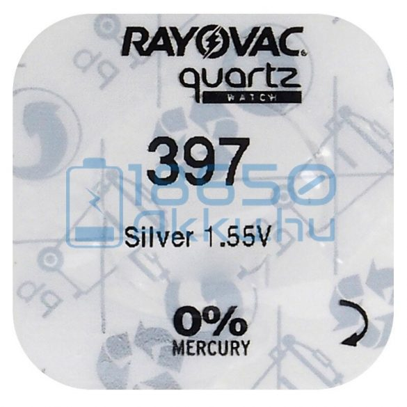Rayovac 397 Ezüst-Oxid Gombelem