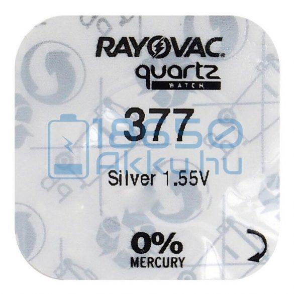 Rayovac 377 Ezüst-Oxid Gombelem