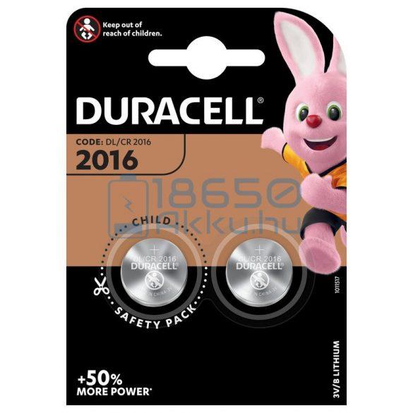 Duracell CR2016 Lítium Gombelem (2db)