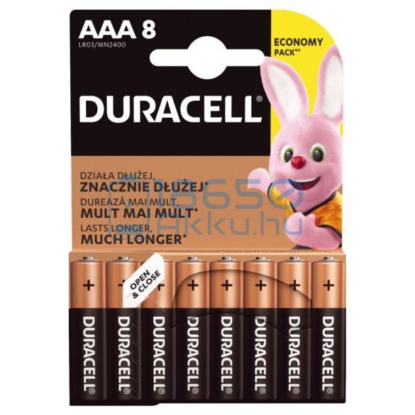 Duracell Basic Duralock Alkáli Tartós (AAA / LR03 / MN2400) Mikro Elem (8db)