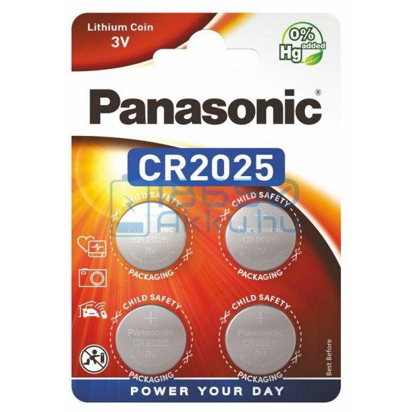 Panasonic CR2025 Lítium Gombelem (4db)
