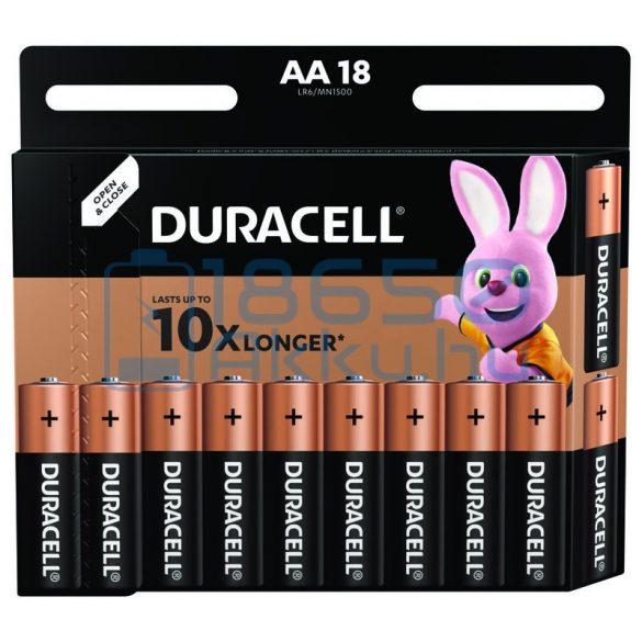 Duracell Basic Duralock Alkáli Tartós (AA / LR6 / MN1500) Ceruza Elem (18db)