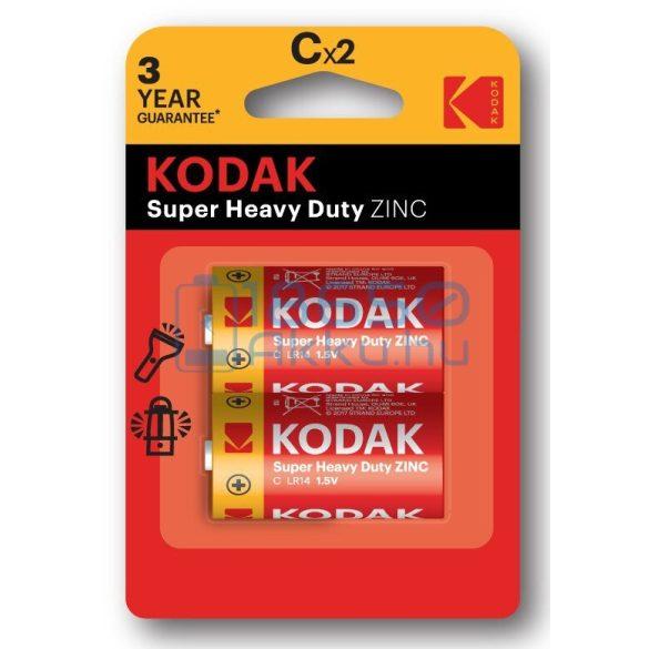 Kodak Super Heavy Duty Cink-Szén Féltartós (C / R14) Baby Elem (2db)