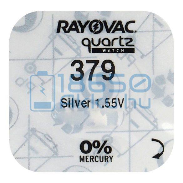 Rayovac 379 Ezüst-Oxid Gombelem