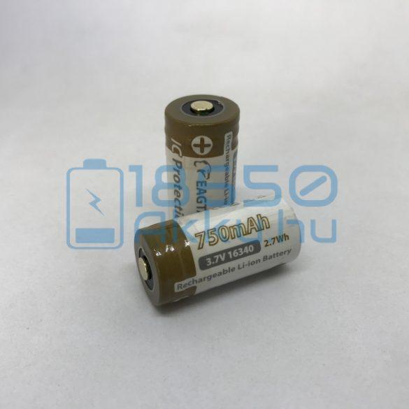 EagleTac 16340 750mAh 1,5A Akkumulátor