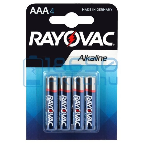 Rayovac Alkáli Tartós (AAA / LR03) Mikro Elem (4db)
