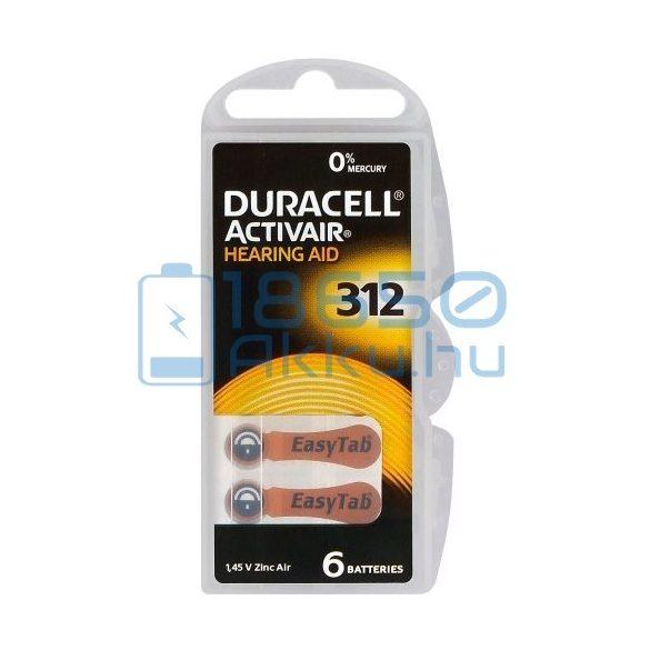 Duracell ActivAir 312 Hallókészülék Elem