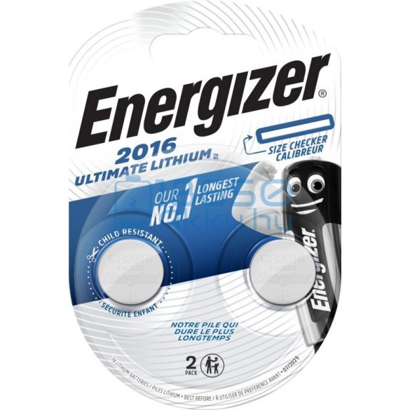 Energizer CR2016 Ultimate Lítium Gombelem (2db)