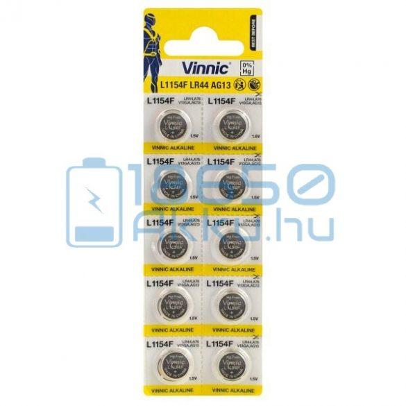 Vinnic AG13 / LR44 / L1154F Alkáli Gombelem