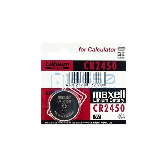 Maxell CR2450 Lítium Gombelem