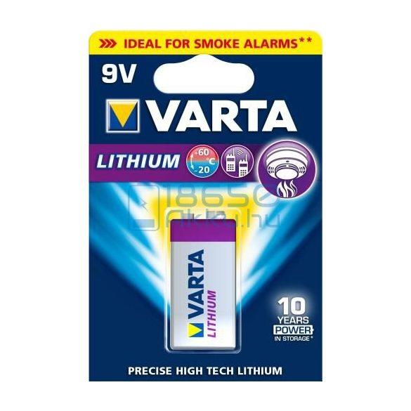 Varta Lithium 6F22 / LA522 9V Extra Tartós Lítium Elem
