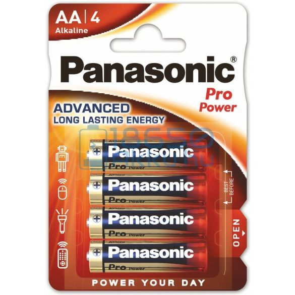 Panasonic Pro Power Alkáli Tartós (AA / LR6) Ceruza Elem (4db)