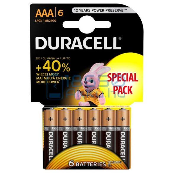 Duracell Basic Duralock Alkáli Tartós (AAA / LR03 / MN2400) Mikro Elem (6db)