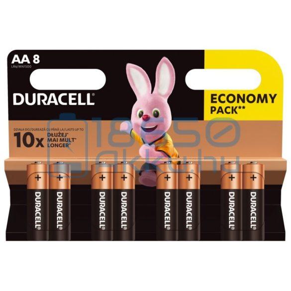 Duracell Basic Duralock Alkáli Tartós (AA / LR6 / MN1500) Ceruza Elem (8db)