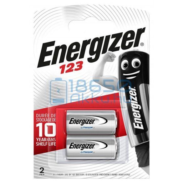 Energizer CR123 Lítium Elem (2db)