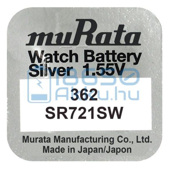 Murata 362 / SR721SW Ezüst-Oxid Gombelem