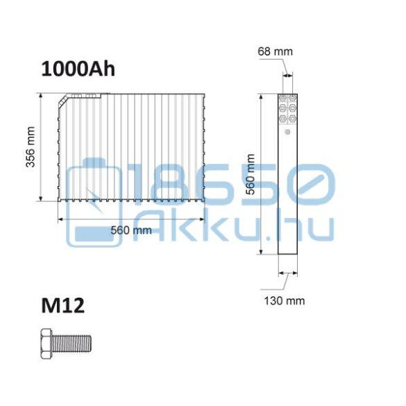 Winston (WB-LYP1000AHC) 1000Ah LiFePO4 Akkumulátor