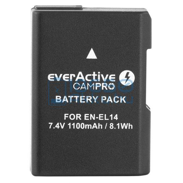 EverActive CamPro (Nikon EN-EL14) Fényképezőgép Akkumulátor (EVB013)