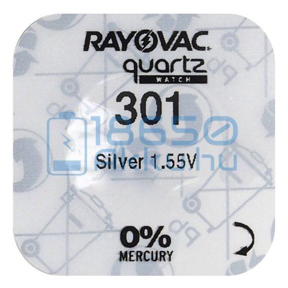 Rayovac 301 Ezüst-Oxid Gombelem
