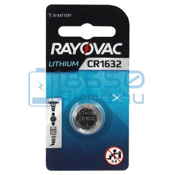 Rayovac CR1632 Lítium Gombelem
