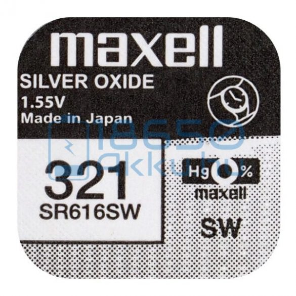 Maxell 321 / SR616SW Ezüst-Oxid Gombelem