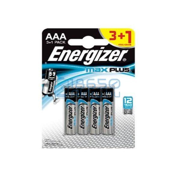 Energizer Max Plus Alkáli Tartós (AAA / LR03) Mikro Elem (4db)