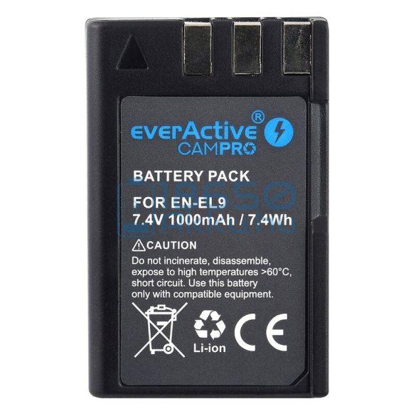 EverActive CamPro (Nikon EN-EL9) Fényképezőgép Akkumulátor (EVB010)