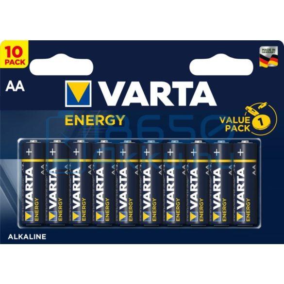 Varta Energy Alkáli Tartós (AA / LR6) Ceruza Elem (10db)