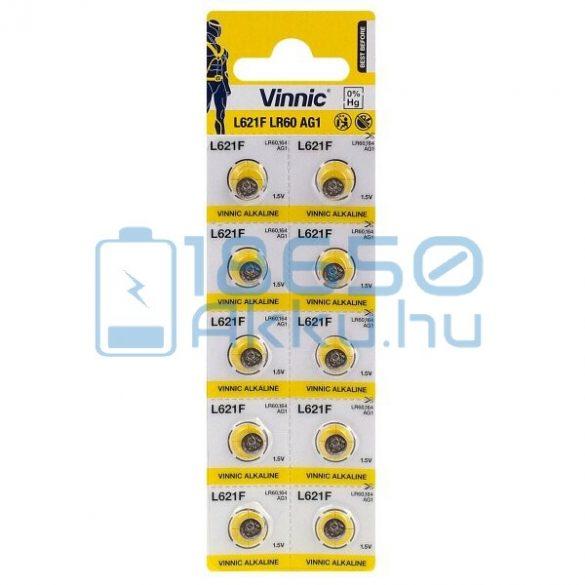 Vinnic AG1 / LR60 / L621F Alkáli Gombelem