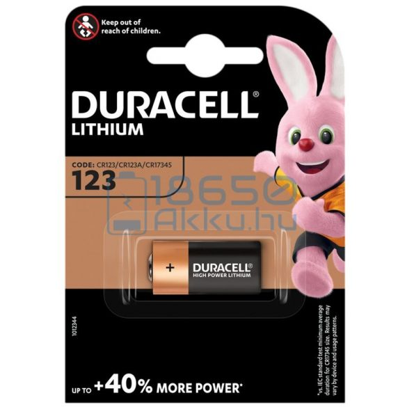 Duracell CR123 Lítium Elem