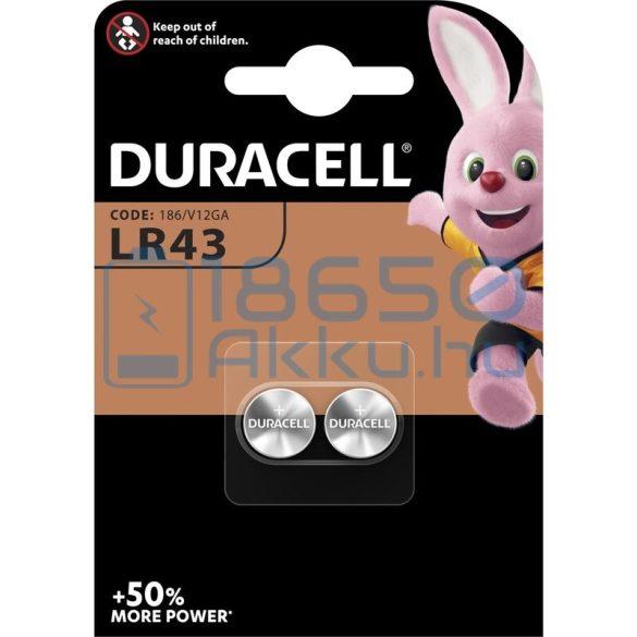 Duracell AG12 / LR43 Alkáli Gombelem (2db)