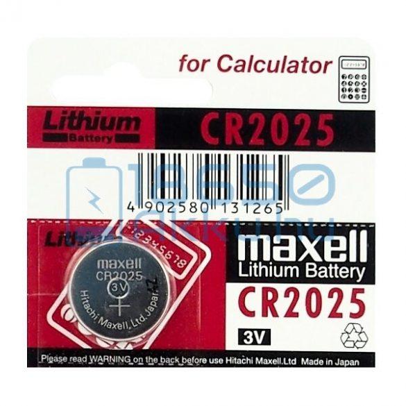 Maxell CR2025 Lítium Gombelem