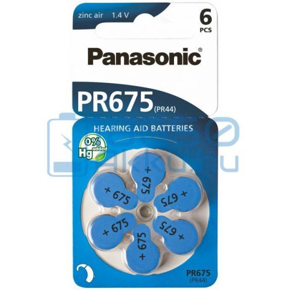 Panasonic 675 / PR44 Hallókészülék Elem