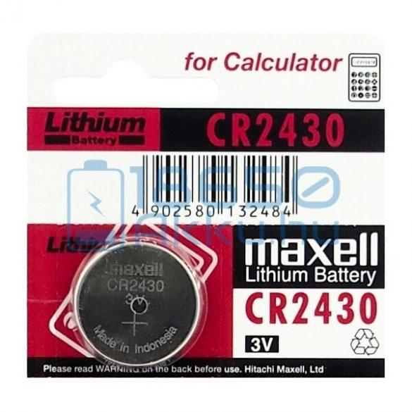 Maxell CR2430 Lítium Gombelem