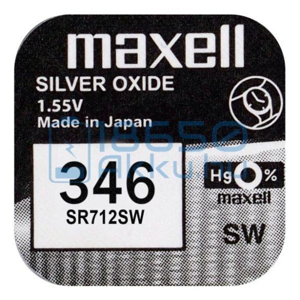 Maxell 346 / SR712SW Ezüst-Oxid Gombelem