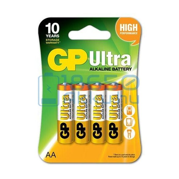 GP Ultra Alkáli Tartós (AA / LR6) Ceruza Elem (4db)