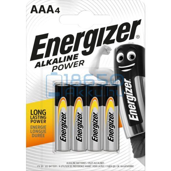 Energizer Alkaline Power Alkáli Tartós (AAA / LR03) Mikro Elem (4db)