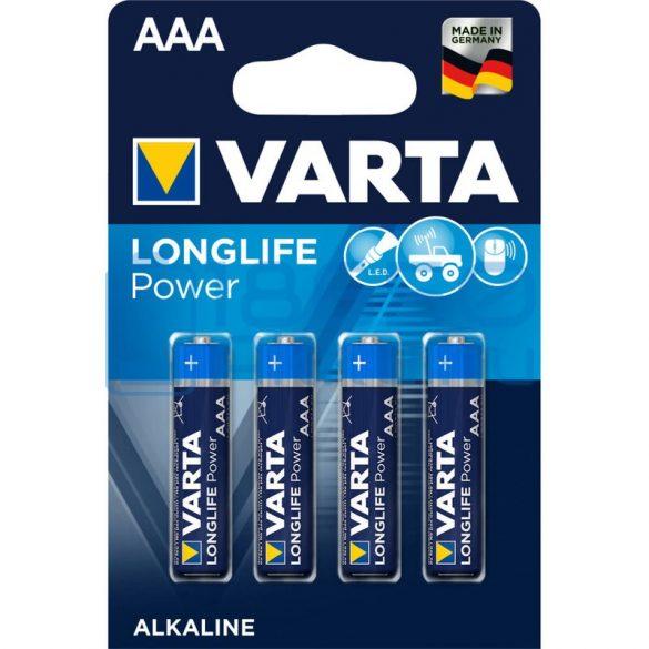 Varta Longlife Power Alkáli Tartós (AAA / LR03) Mikro Elem (4db)