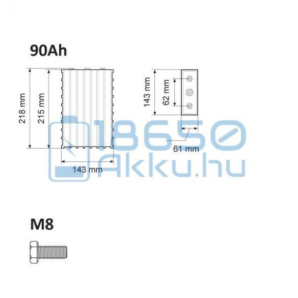 Winston (WB-LYP90AHA) 90Ah LiFePO4 Akkumulátor