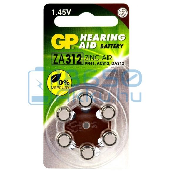GP 312 / PR41 Hallókészülék Elem