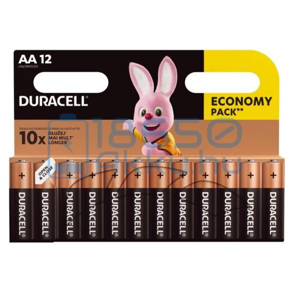 Duracell Basic Duralock Alkáli Tartós (AA / LR6 / MN1500) Ceruza Elem (12db)