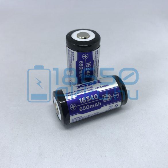 XTAR 16340 650mAh 1.2A