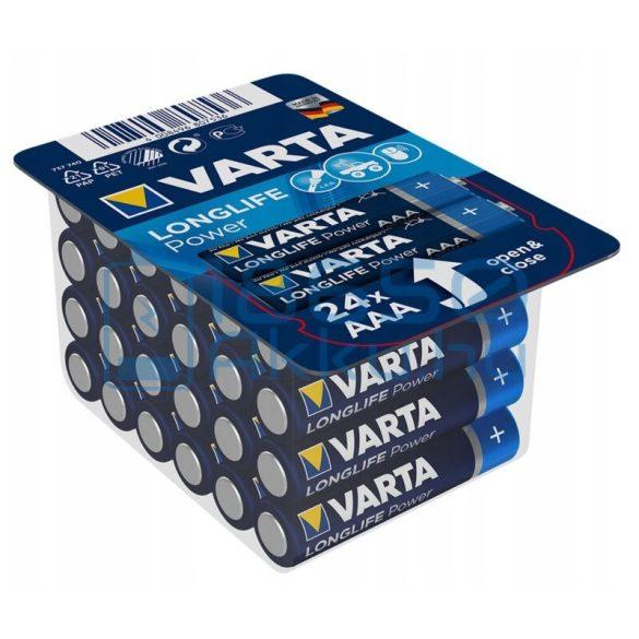 Varta Longlife Power Alkáli Tartós (AAA / LR03) Mikro Elem (24db)