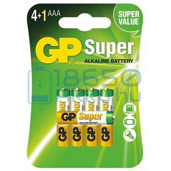 GP Super Alkáli Tartós (AAA / LR03) Mikro Elem (5db)
