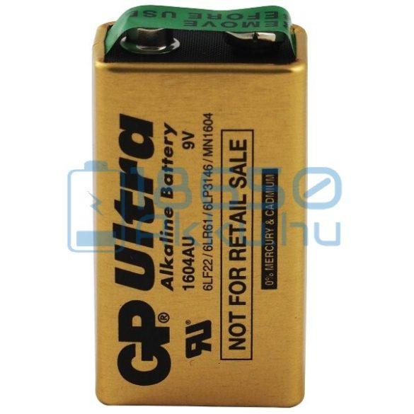 GP Ultra Alkaline Industrial 6LR61 9V Alkáli Elem