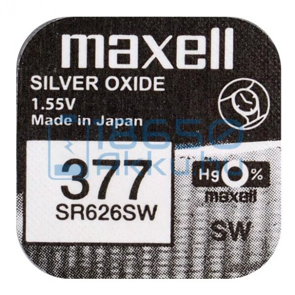 Maxell 377 / SR626SW Ezüst-Oxid Gombelem